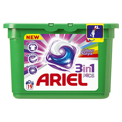 Ariel 3 In 1 Pods Colour X19