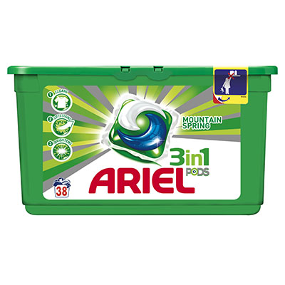 Ariel 3in1 Pods Regular 38w