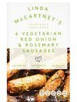 Linda Mc Cartney 6 Vegetarian Red Onion & Rosemary Sausages 300 G