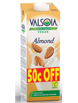 Valsoia Almond Drink 50c Off 1 Ltr