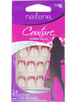 Nailene Couture Design Nails Silver & Red