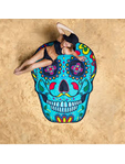 Big Mouth Sugar Skull Beach Blanket 1.5m