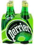 Perrier Glass Lime X4 33cl