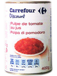 Carrefour Discount Chopped Tomatoes 400gr