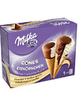 Milka Vanilla Chocolate Cones 4x110ml