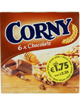 Corny Chocolate Bars X6