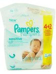 Pampers Wipes Mega Sensitive 4+2 Free