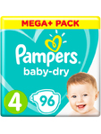 Pampers Mega+ Baby Dry Maxi X96