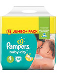 Pampers Baby Dry 4+ Maxi Plus X76