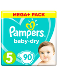 Pampers Mega+ Baby Dry 5 Junior X90