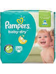 Pampers Vp Baby Dry 6+ Extra Large Plus X32