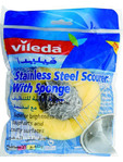 Vileda Stainless Steel Scourer With Sponge