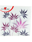 Susy Card Napkin Purple Fern