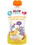 Hipp Organic Peach Apple & Banana Muesli Wityh Yogurt 100gr
