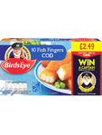 Birds Eye Cod Fish Fingers X12