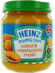 Heinz Mum's Own Carrot & Sweet Potato Mash 120g