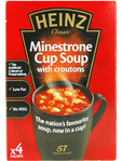 Heinz Minestrone Cup Soup With Croutons X4