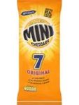 Mc Vities Mini Cheddars Original X7