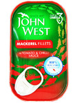 John West Mackerel Fillets In Tomato & Chilli Sauce 125gr