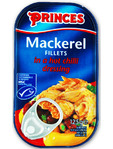 Princes Mackerel Fillets In A Hot Chilli Sauce 125gr