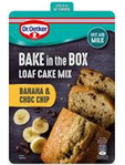 Dr Oetker Bake In The Box Loaf Cake Mix Banana & Choc Chip 175g