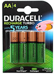 Duracell Rechargeable Aa X4