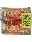 Fox's Chunkie Cookies Dark Chocolate 2x180g 30% Free