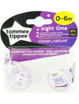 Tt Ctn Nightime Soothers 0-6m X2