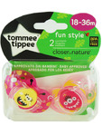 Tommee Tippee Funtime Soothers 18-36m X2