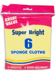 Super Bright Sponge Cloths X6