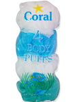 Coral Body Puffs X4