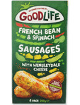 Good Life French Bean & Spinach Sausages With Wensleydale Cheese X4