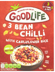 Goodlife 3 Bean Chilli With Cauliflower Rice 400g