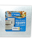 Kingfisher Thin Square Cake Board 8inch