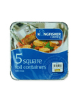 Kingfisher Square Foil Cointainers X5