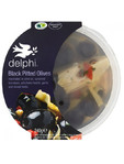 Delphi Black Pitted Olives With Herbs 240g