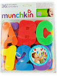 Munchkin 36 Bath Letters & Numbers 24m+