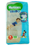Huggies Bimbo Nappies Large X50 + Free Wipes