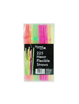Home Maid 225 Neon Flexible Straws