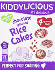 Kiddylicious Chocolate Splashed Rice Cakes 4x12g