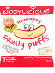 Kiddylicious Strawberry Fruity Puffs 10gr