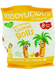 Kiddylicious Mini Banana & Coconut Rolls 8x6.8g