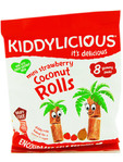 Kiddylicious Mini Strawberry & Coconut Rolls 8x6.8g