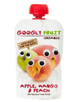 Googly Fruit Pouch Apple/mango & Peach 100g