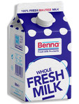 Benna Milk Whole 3.5% Fat 500ml