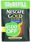 Nescafe Gold Blend Decaff Refill Smoother Taste 150gr Eur1.00 Off