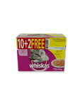 Whiskas Poultry Selection Pouches 12x100g Offer 10+2 Free