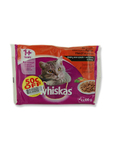 Whiskas Pouch Meat Selection X4 100gr (50c Off)