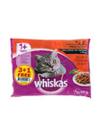 Whiskas Meat Selection Pouches 4x100g 3+1 Free