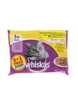 Whiskas Adult Pouches Poultry Slection 4x100g Offer 3+1 Free
